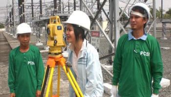PCSI offers surveying method in the form of three-dimensional geographical information system (GIS) representation. Total station geographical positioning system (GPS) or photogrammetry has been employed to develop quick and relatively accurate terrain models. Data are collected in electronic format, and can be processed by the transmission line software that is capable of reading the input in logical format normally desired by the designer or end user. The information collected can also be directly transmitted and inputted in PLS-CADD software program and processed in a matter of minutes. Transmission line design can begin immediately using extremely accurate profile.